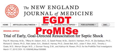 SGEM#113: EGDT – ProMISe(s) ProMISe(s)