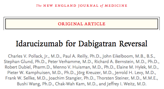 SGEM#139: One Thing Leads to Another – Idarucizumab for Dabigatran Reversal?