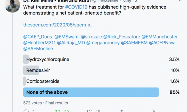 SGEM Xtra Twitter Poll COVID19 Treatments